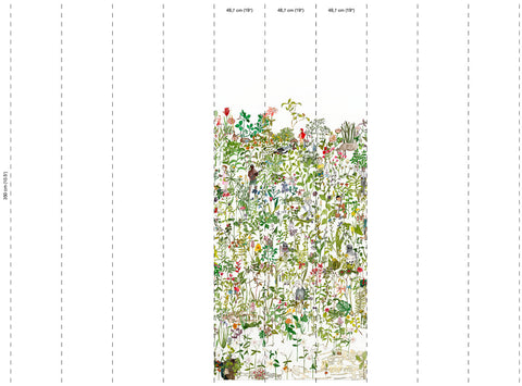 Enchanted Garden Wallpaper by Anna Surie