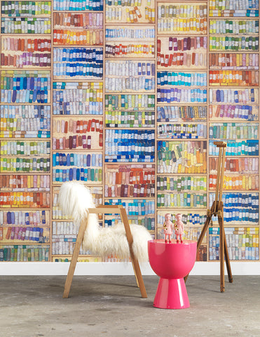 MRV-09 COLORED CHALK WALLPAPER BY MR & MRS VINTAGE