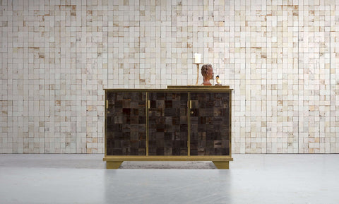 PHE-21 Mosaic Squares White Wallpaper by Piet Hein Eek