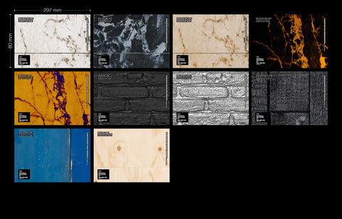 Sample Envelope Materials by Piet Hein Eek