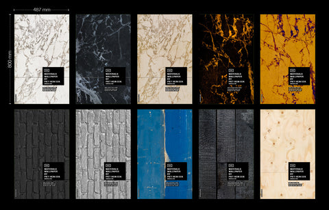 Sample Sheets Materials by Piet Hein Eek