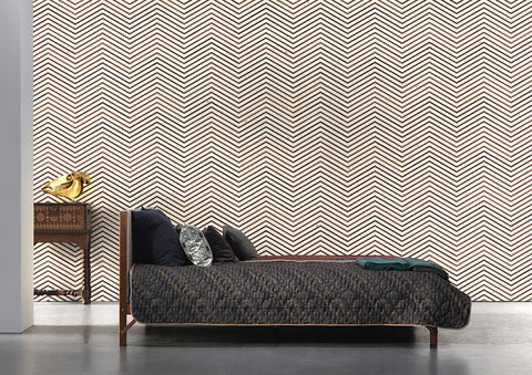 TIM-04 Timber Strips Wallpaper by Piet Hein Eek