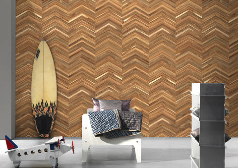 TIM-06 Timber Strips Wallpaper by Piet Hein Eek