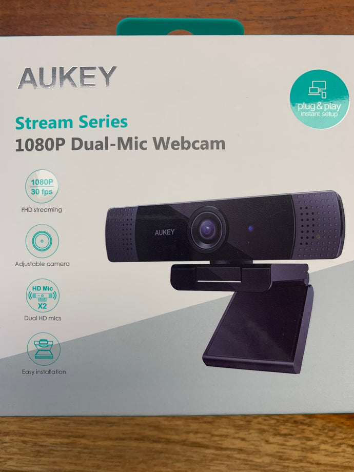 AUKEY Webcam FullHD 1080p PC-LM1E  Stereo Mikro Skype KameraFace Time Laptop PC