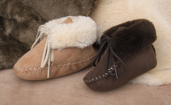 Baby Sheepskin Booties Made in USA by Footskins 100S