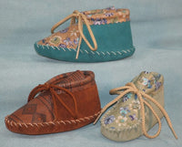 Handmade Babies' Patterned Suede Booties Item #: 107-157 Made in USA by Footskins