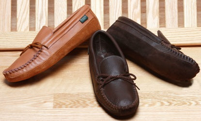 Men's Canoe Sole Moccasins Made in USA by Footskins
