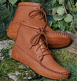 Women's Canoe Sole Walking Boots Made in US by Footskins 1541C