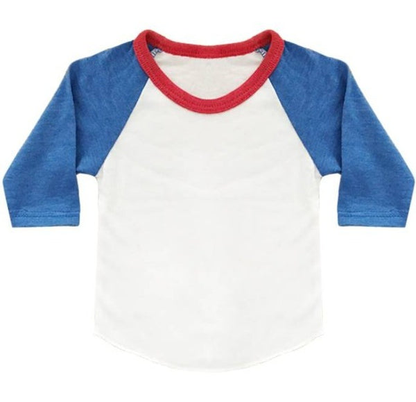 Infant/Toddler/Youth Americana Raglan Baseball Shirt 2-pk Made in USA17330 & 17660