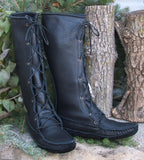 Men's Cowhide Knee High Boots Made in US by Footskin 1740