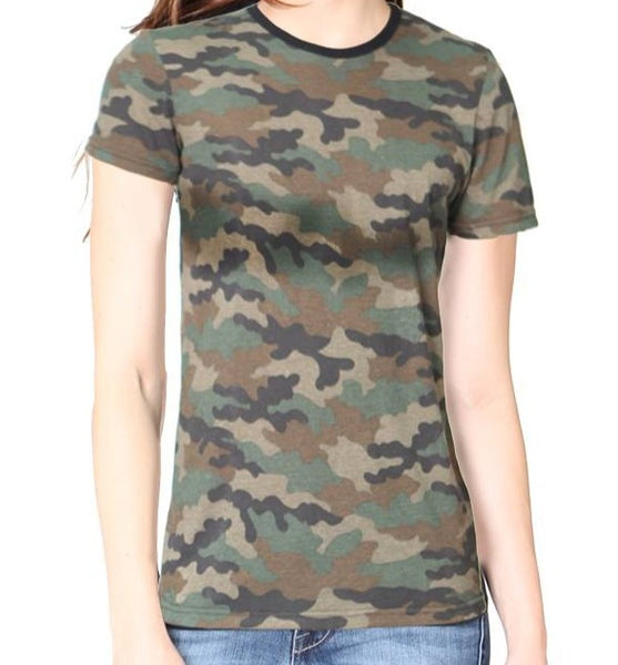 Men's/Women's Camo Camouflage T-Shirt 2-Pack Made in USA 17551CMO