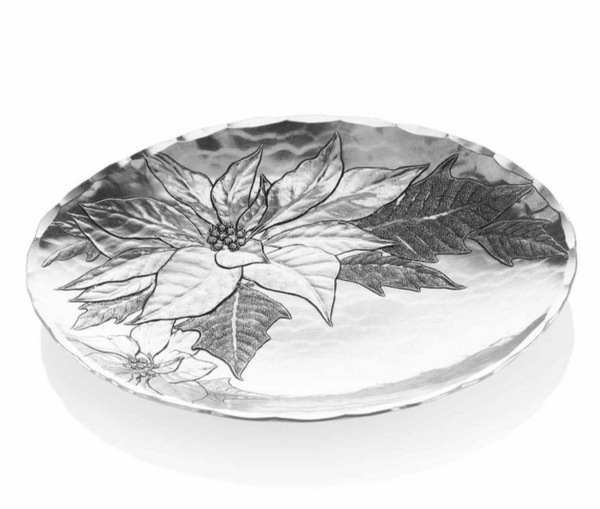 Poinsettia Small Oval Bowl by Wendell August Made in USA13458OBS
