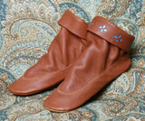 Women's Teepee Boots with Leather Sole Made in America by Footskins 2250-SD