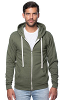 Unisex Triblend Fleece Zip Hoody by Royal Apparel Made in USA 25050