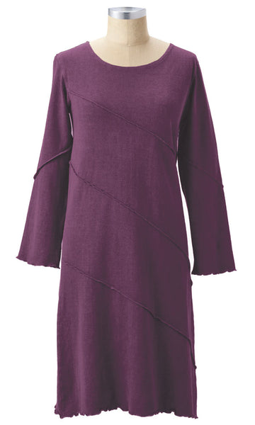 Katrina Long Sleeved Dress Organic Cotton Dress by Earth Creatons Made in USA