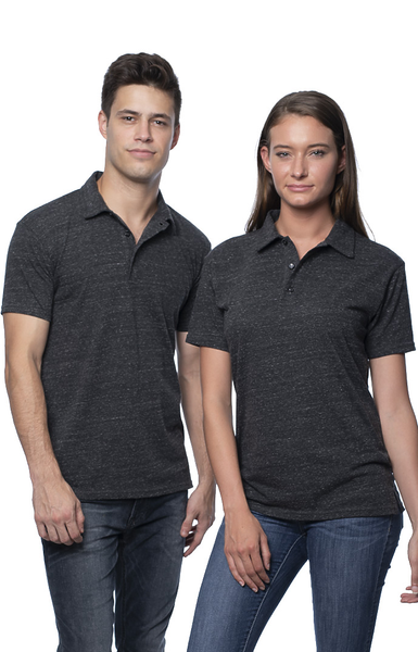 NEW! 2-Pack Eco Triblend Polo Shirt Made in USA 32057