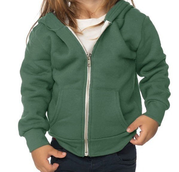 Infant Full Zip Hooded Sweatshirt Made in USA by Royal Apparel 3333