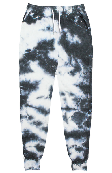 Cloud Distressed Tie Dye Fleece Jogger Sweatpant Made in USA 3557