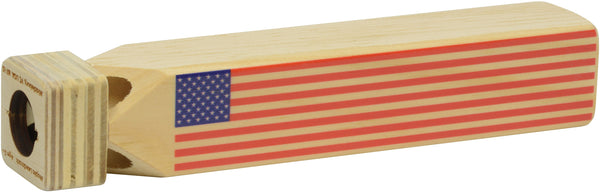 New! Flag Train Whistle by Maple Landmark Made in USA