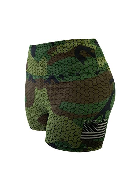 Women's Freedom Camouflage Performance Short by WSI Made in USA 461WBBH
