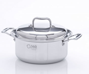 4Qt Stainless Steel Stockpot w/Cover USA Made
