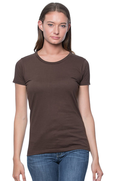 2-Pack Women's Short Sleeve Organic Fine Jersey Tee Shirt by Royal Apparel Made in USA 5001W
