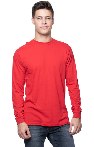 Men's Organic Cotton Long Sleeve Crew Tee 2-Pack by Royal Apparel Made in USA 5054ORG