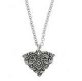 Season of Love Heart Pewter Necklace Made in USA OF2834NCK