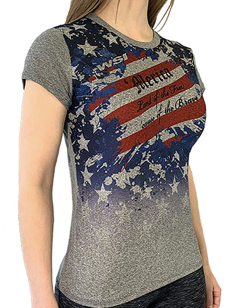 Women's 'Merica Freedom Tee by WSI Made in USA 704WCSSF