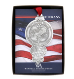 For All Who Served Veterans Ornament and Coaster Set by Wendell August Made in USA 11777419 14146005