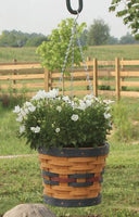 "Round Hanging Basket 8"" Made in USA by Krasco"