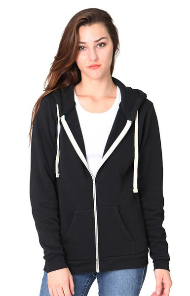 Unisex Organic RPET Fleece Zip Hoody by Royal Apparel American-Made 96050