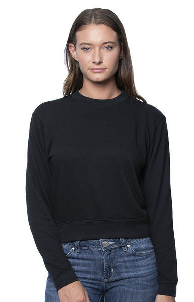 97100 Women's Organic RPET French Terry Crew Sweatshirt Made in USA