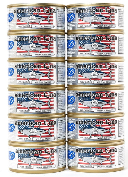 American Tuna No Salt 12-Pack Made in USA