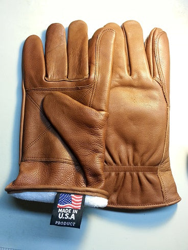 Beautiful Leather Gloves with Lining Made in USA FLG-808F