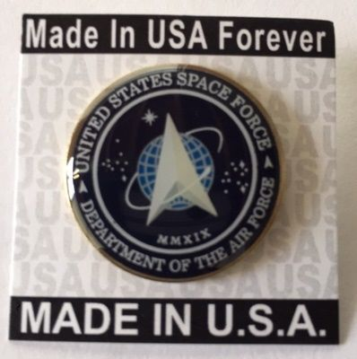 New Space Force Flag Pin Made in USA