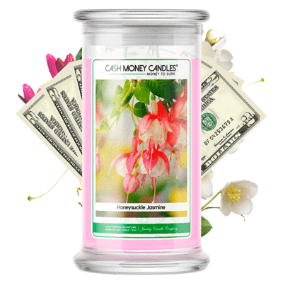 Honeysuckle Jasmine Cash Money Candles Made in USA