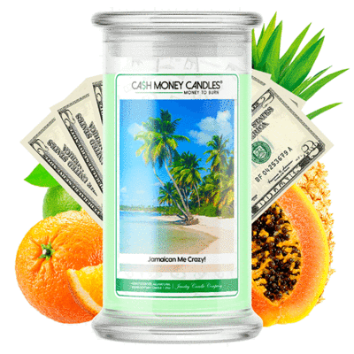 Jamaican Me Crazy Cash Money Candles Made in USA