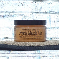 Organic Muscle Rub Moisturizing Massage Gel by B. Witching Co. Made in USA