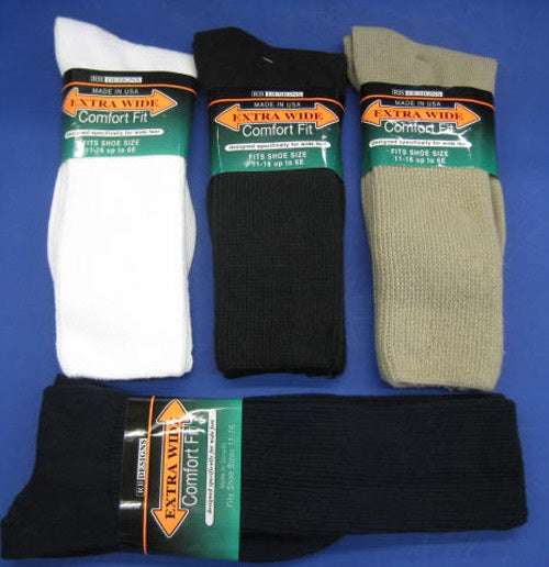 Men's Extra Wide Athletic Sock by KB Designs Made in America