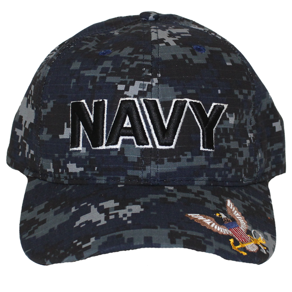Navy Digital Cap Made in USA