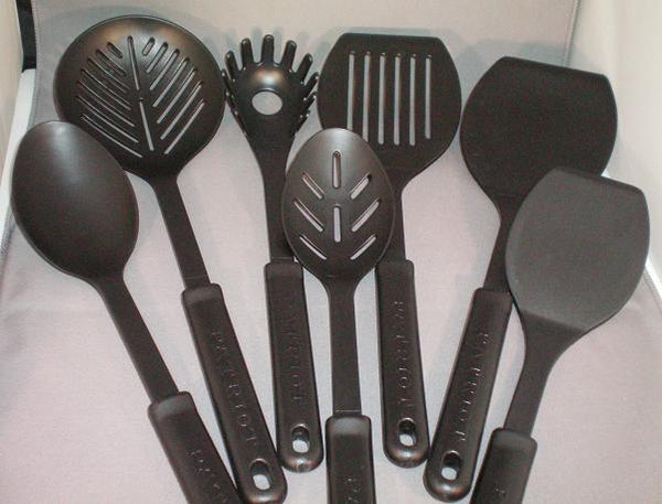 Set of Eight Kitchen Tools Made in America by Patriot Plastics