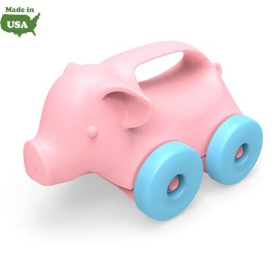 Green Toys® Animals-on-Wheels Pig Made in USA RSCA-1069