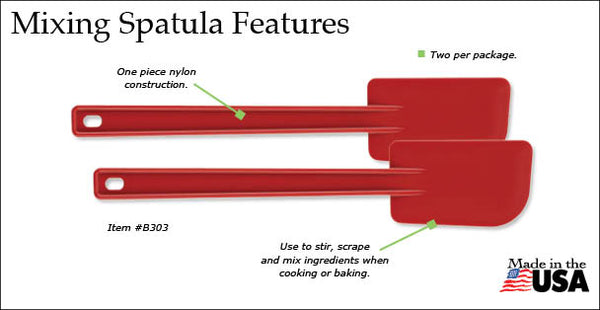 Mixing Spatula Nylon 2pk Made in USA by Rada Cutlery