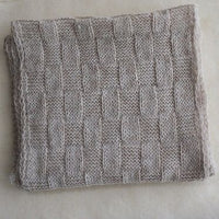 Basketweave Infinity Suri Alpaca Scarf Made in USA