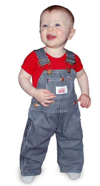 Baby and Kids Sized Stripe Bib Engineer Overalls USA Made by ROUND HOUSE® Made in USA