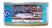 American Tuna Bricked Smoked with Olive Oil 12-Pack Made in USA