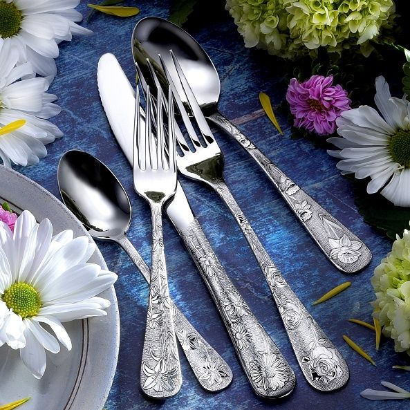 American Garden - 20 Piece Set of Flatware American-Made
