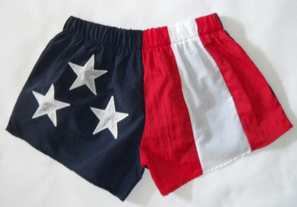 American Flag Low Rise Sporty Shorts 2-Pack Made in USA Stately flagshort