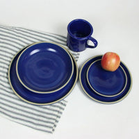 American Blue BROOKLINE Dinner Set for One by Emerson Creek Pottery Made in USA      Set, X1-2688 Brookline